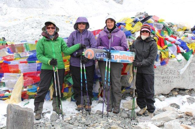 group at Everest Base Camp with Natural Trekking